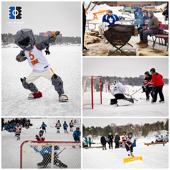 Sudbury Pond Hockey Festival on the Rock