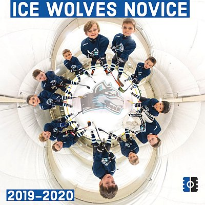 Sudbury hockey team photographer - Ice Wolves team tiny planet