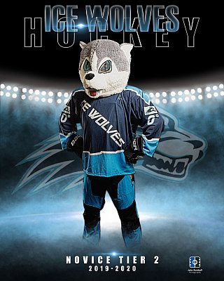 Sudbury hockey team photographer - Ice Wolves mascot
